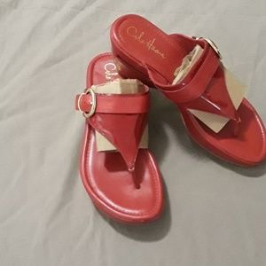 Cole Haan Nike Air red sandals